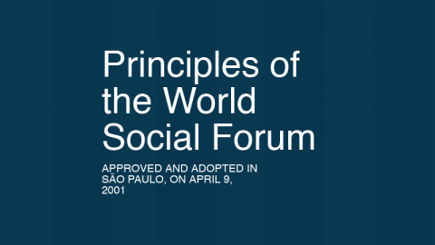 Principles of the World Social Forum