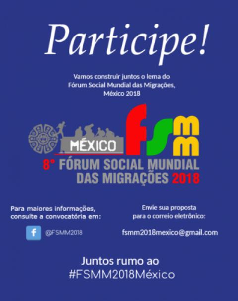 Convocatória para a construção do lema do 8º Fórum Social Mundial das Migrações