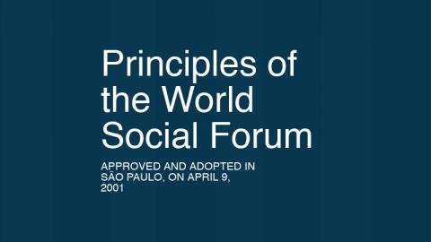 Principles of the World Social Forum